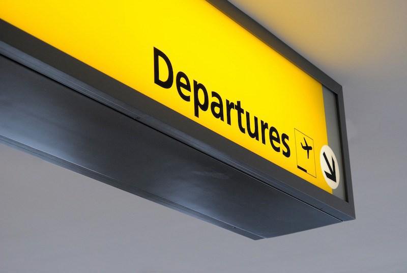 Departure Area at Bandaranaike International Airport Sri Lanka