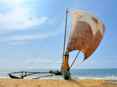 Boat at Negombo Beach Sri Lanka